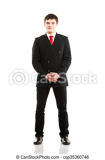 Businessman isolated on white - csp35360746