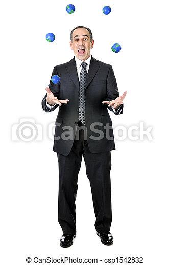 Businessman juggling - csp1542832