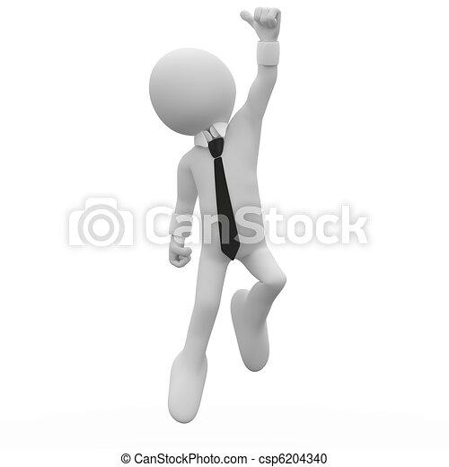 Businessman jumping for joy - csp6204340