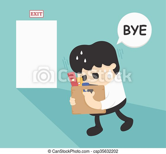 Quitting job cartoon employee quitting his job to follow businessman leaving job sciox Image collections