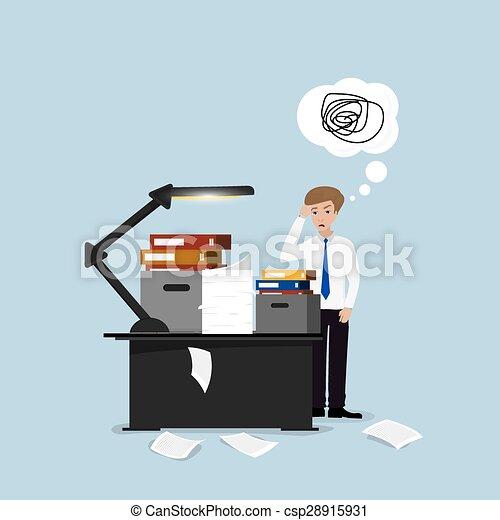 Businessman lot of work - csp28915931