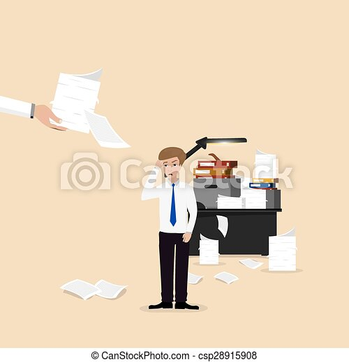 Businessman lot of work - csp28915908