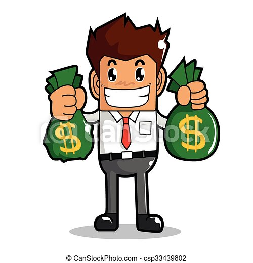 Businessman Make Money Vector Easy Use In Your Work