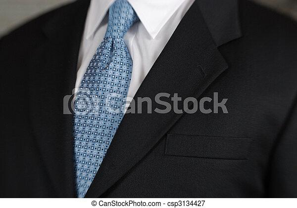 Businessman neck tie detail - csp3134427