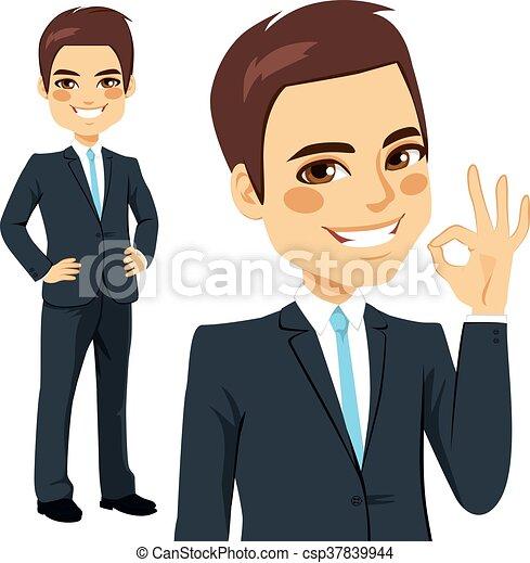 Businessman Okay Sign - csp37839944