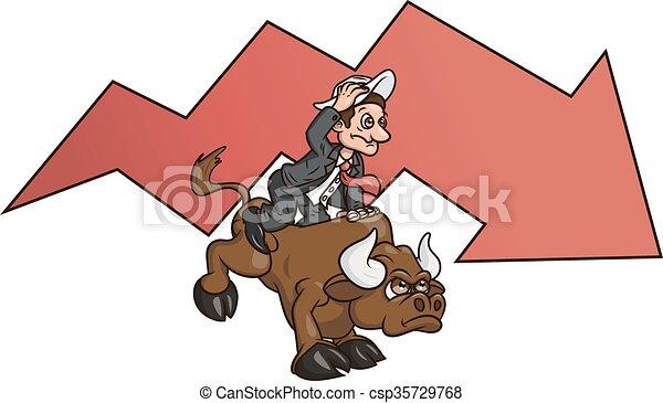 Businessman on bull - csp35729768
