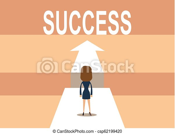 businessman on the road to success in business - csp62199420