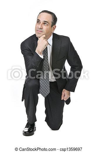 Businessman on white background - csp1359697
