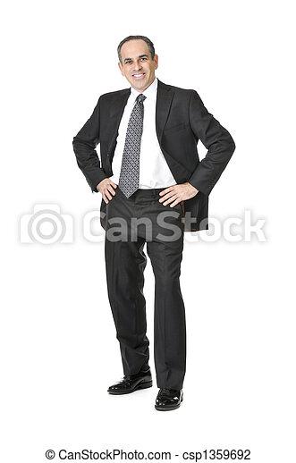 Businessman on white background - csp1359692