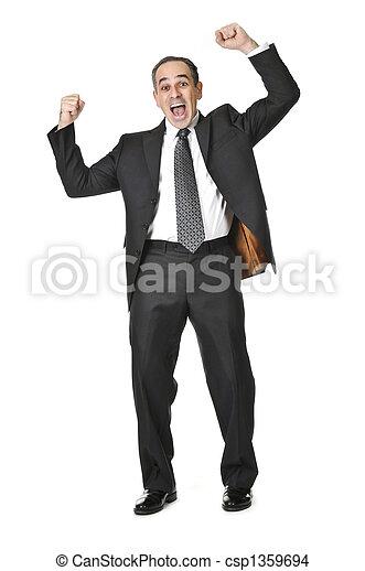 Businessman on white background - csp1359694