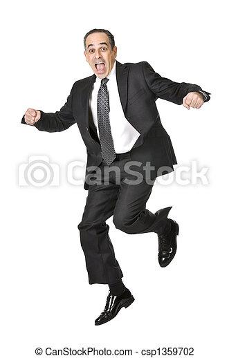 Businessman on white background - csp1359702