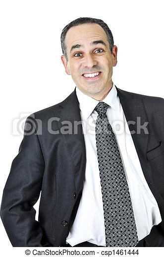 Businessman on white background - csp1461444