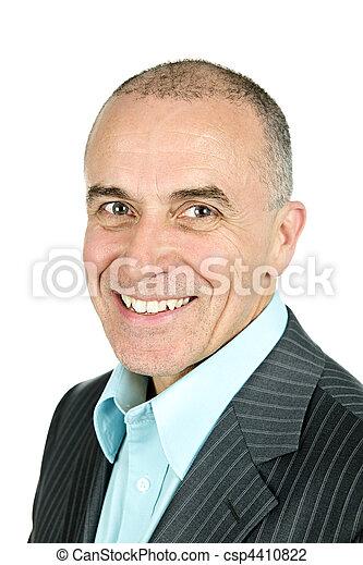 Businessman on white background - csp4410822