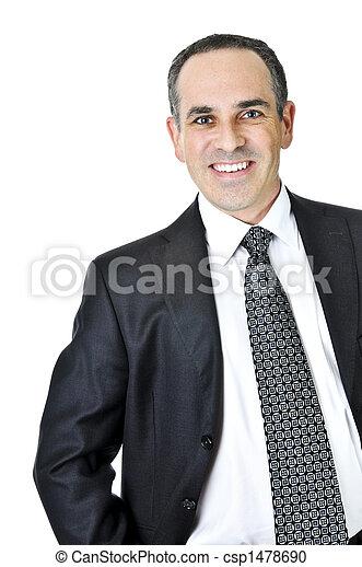 Businessman on white background - csp1478690