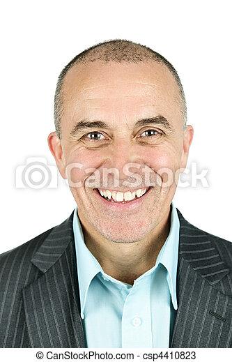 Businessman on white background - csp4410823