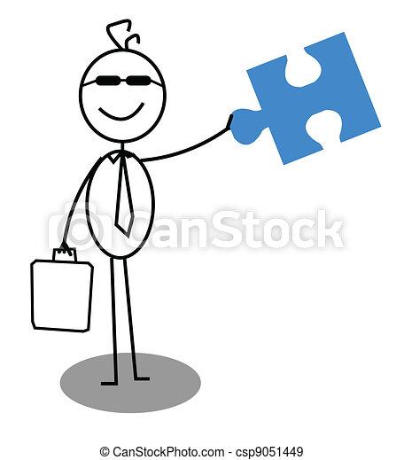 Businessman Open Cooperation  - csp9051449