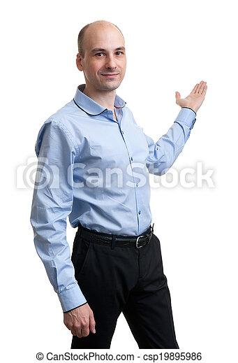 Businessman pointing - csp19895986