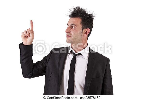 businessman pointing - csp28578150