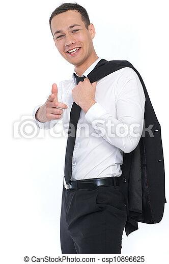 Businessman Pointing - csp10896625