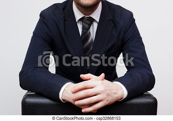 Businessman preparing to give a large bribe - csp32868153