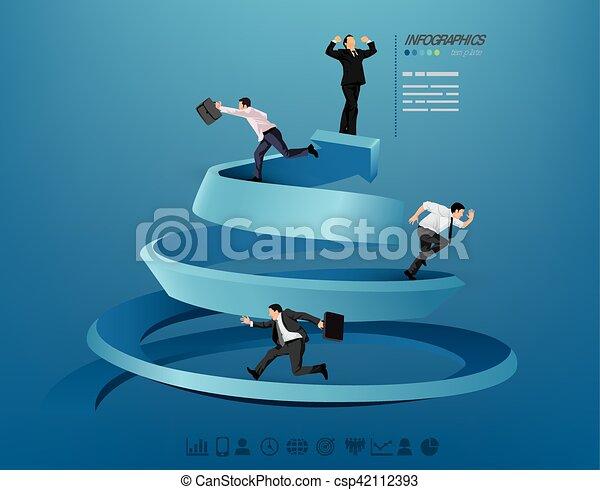 Businessman progressing illustration - csp42112393