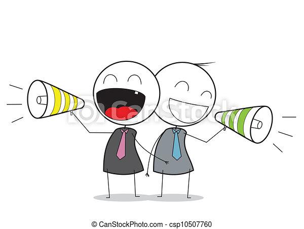 Businessman promotion - csp10507760