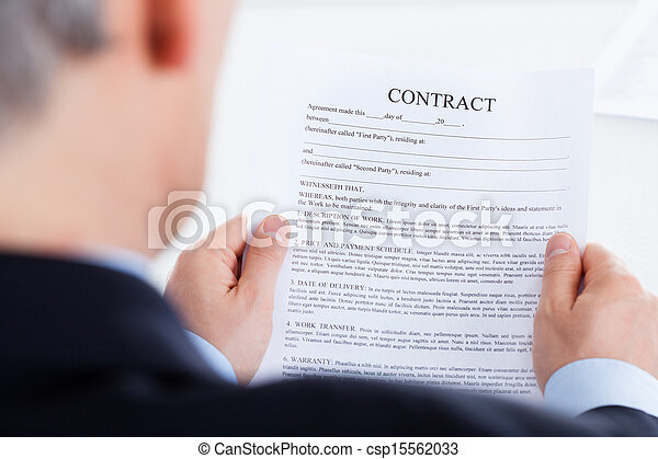 Businessman Reading The Contract Form - csp15562033