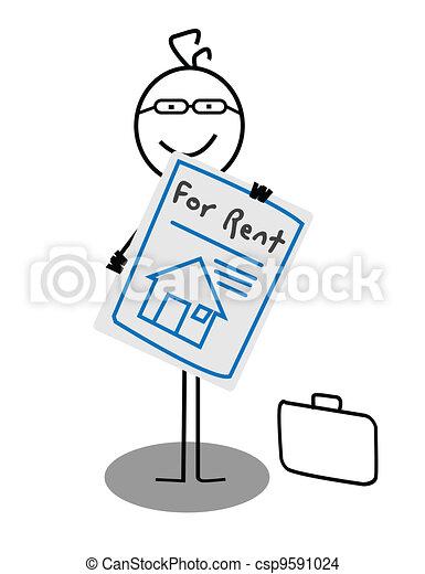 Businessman Rent House  - csp9591024