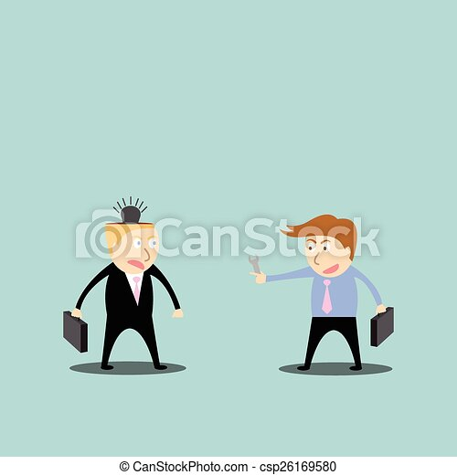businessman repair ideas - csp26169580