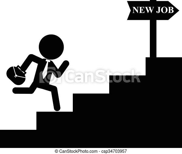 businessman run to new job - csp34703957