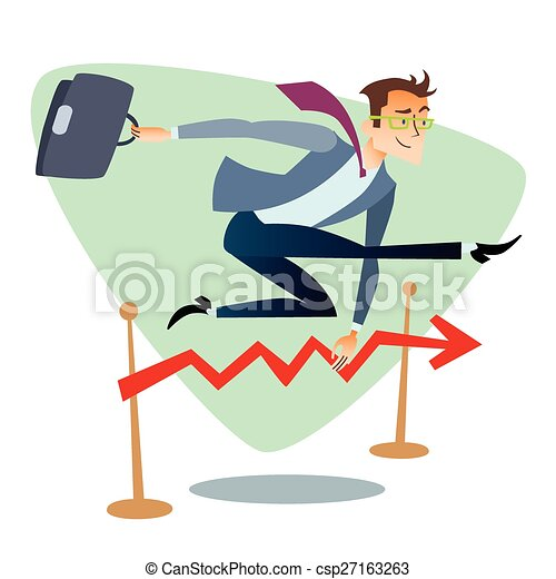 businessman running and jumping over barriers schedule of clip rh canstockphoto com