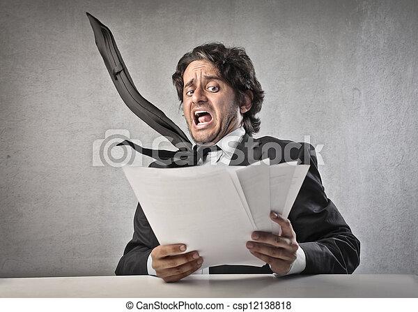 businessman scared - csp12138818