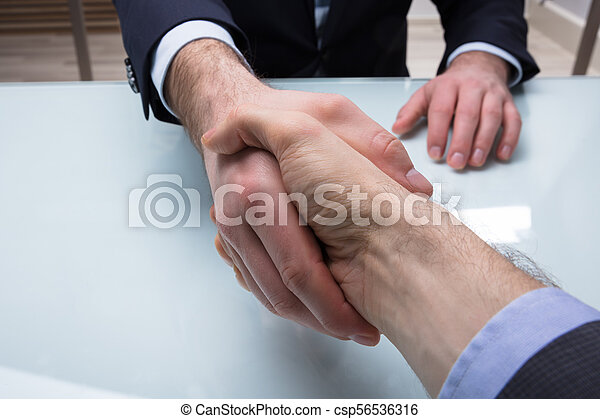 Businessman Shaking Hand With His Partner - csp56536316