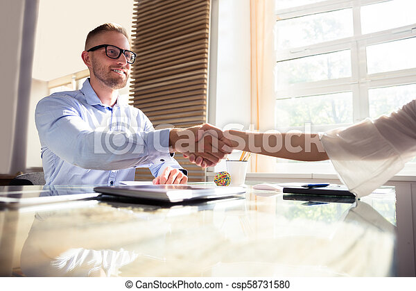 Businessman Shaking Hand With His Partner - csp58731580