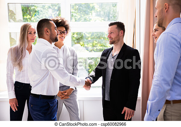 Businessman Shaking Hands With His Partner - csp60082966