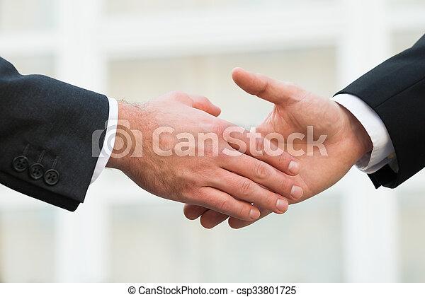 Businessman Shaking Hands With Partner - csp33801725