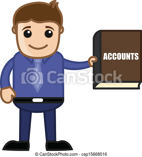 Businessman Showing Accounts Book - csp15668016