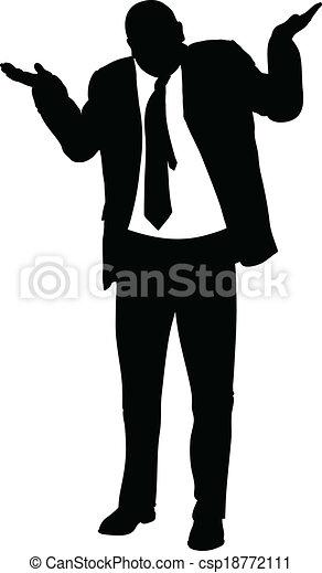 Businessman Shrug - csp18772111