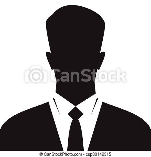 businessman silhouette avatar profile icon