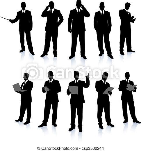Businessman Silhouette Collection - csp3500244