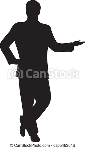 Businessman silhouette vector  - csp5463646