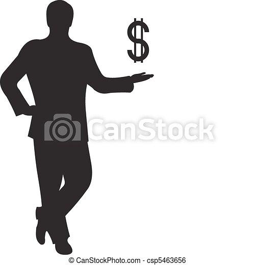 Businessman silhouette vector - csp5463656