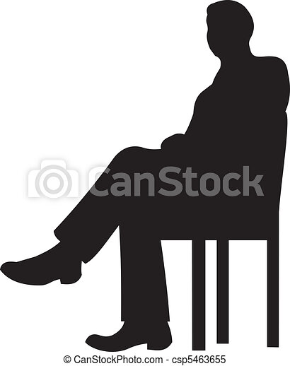 Businessman silhouette vector - csp5463655