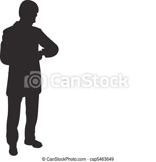 Businessman silhouette vector - csp5463649
