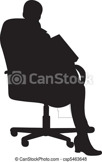 Businessman silhouette vector  - csp5463648