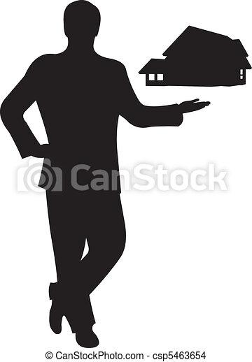 Businessman silhouette vector - csp5463654