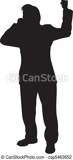 Businessman silhouette vector - csp5463652