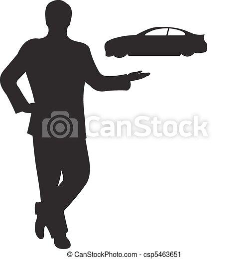 Businessman silhouette vector - csp5463651