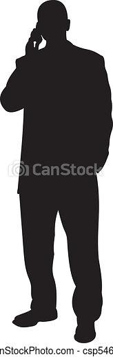Businessman silhouette vector - csp5463650