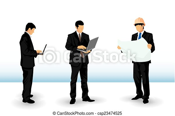 businessman silhouettes - csp23474525